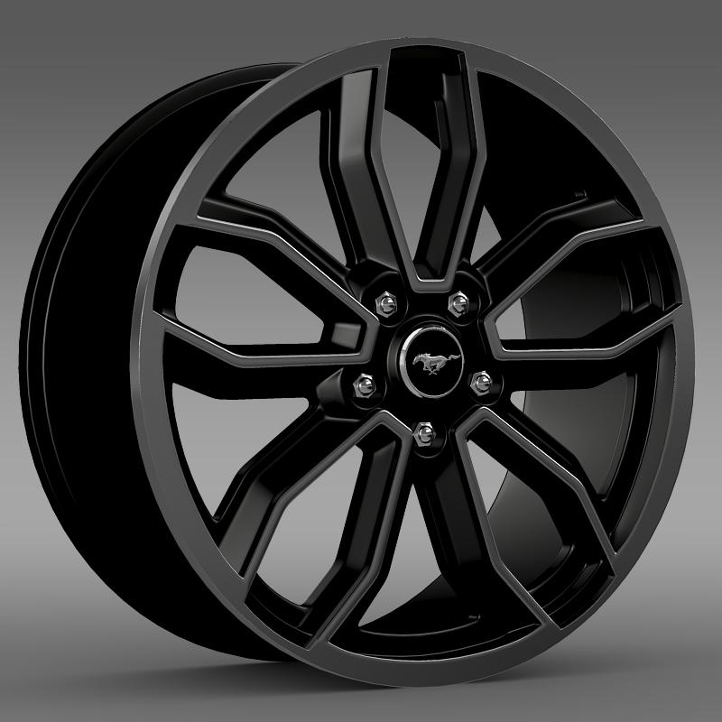 ford mustang gt 2013 rim 3d model 3ds max fbx lwo ma mb hrc xsi obj 140076