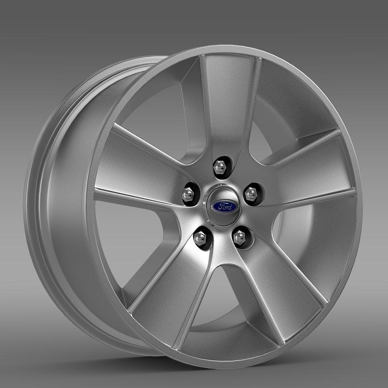ford mustang gt convertible 2005 rim 3d model 3ds max fbx c4d lwo ma mb hrc xsi obj 140084