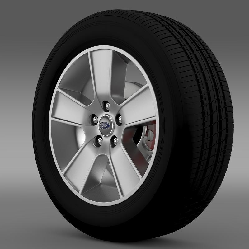 ford mustang gt convertible 2005 wheel 3d model 3ds max fbx c4d lwo ma mb hrc xsi obj 139662