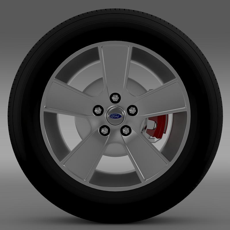ford mustang gt convertible 2005 wheel 3d model 3ds max fbx c4d lwo ma mb hrc xsi obj 139663