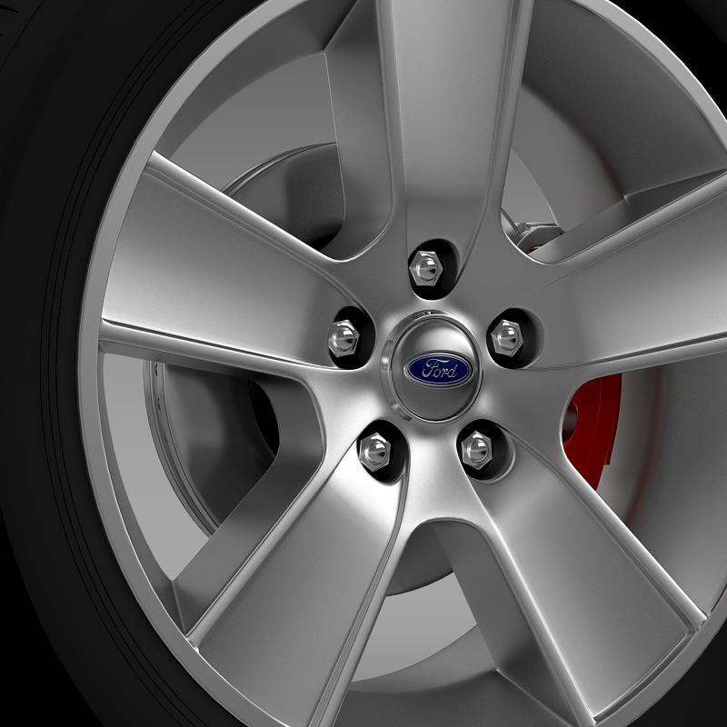 ford mustang gt convertible 2005 wheel 3d model 3ds max fbx c4d lwo ma mb hrc xsi obj 139664