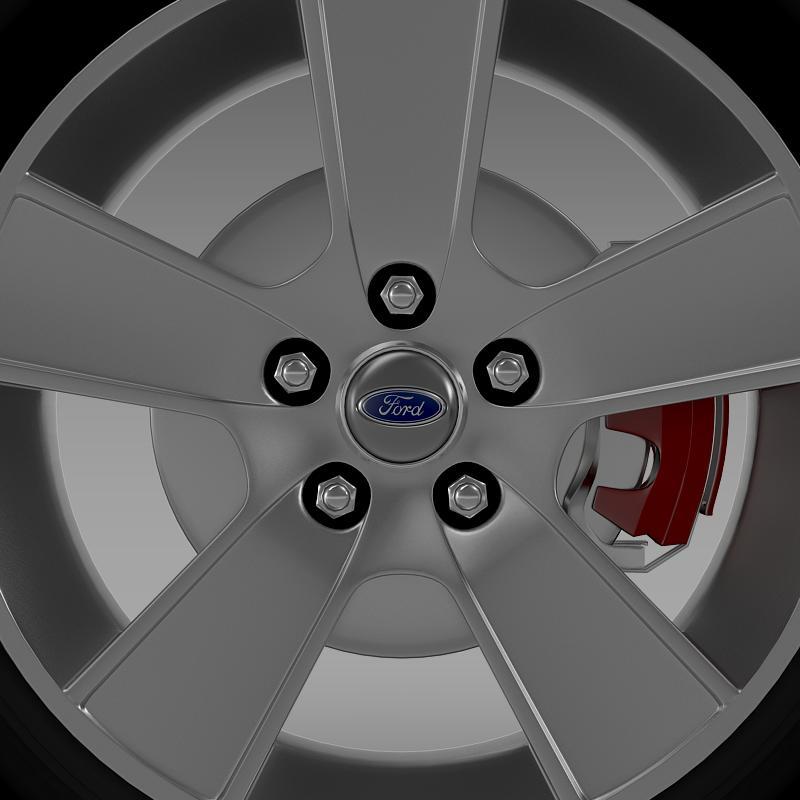 ford mustang gt convertible 2005 wheel 3d model 3ds max fbx c4d lwo ma mb hrc xsi obj 139666