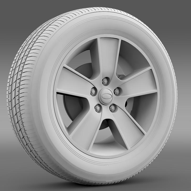 ford mustang gt convertible 2005 wheel 3d model 3ds max fbx c4d lwo ma mb hrc xsi obj 139667