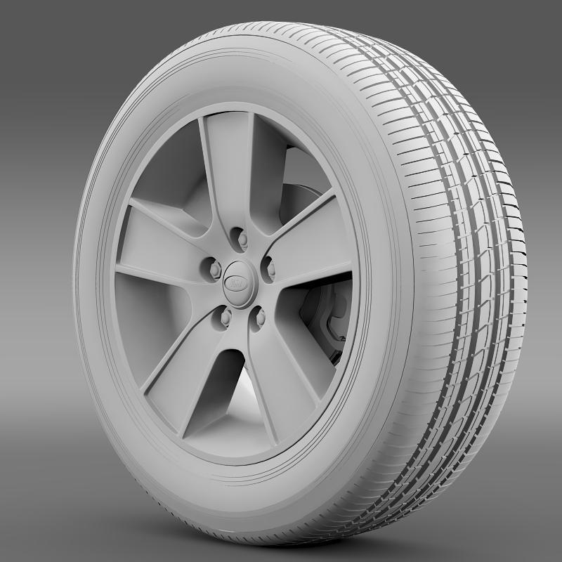 ford mustang gt convertible 2005 wheel 3d model 3ds max fbx c4d lwo ma mb hrc xsi obj 139668