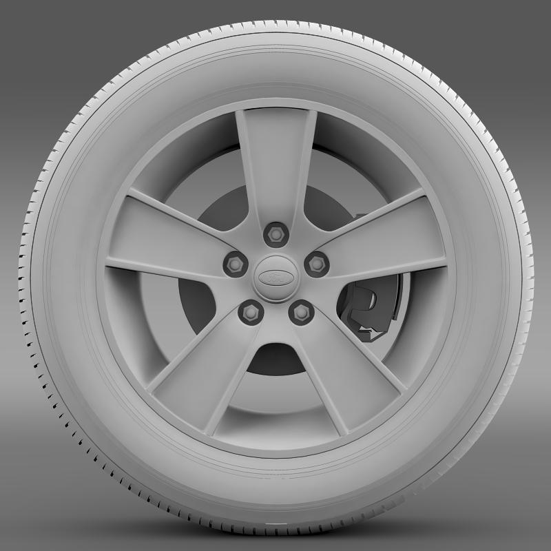 ford mustang gt convertible 2005 wheel 3d model 3ds max fbx c4d lwo ma mb hrc xsi obj 139669
