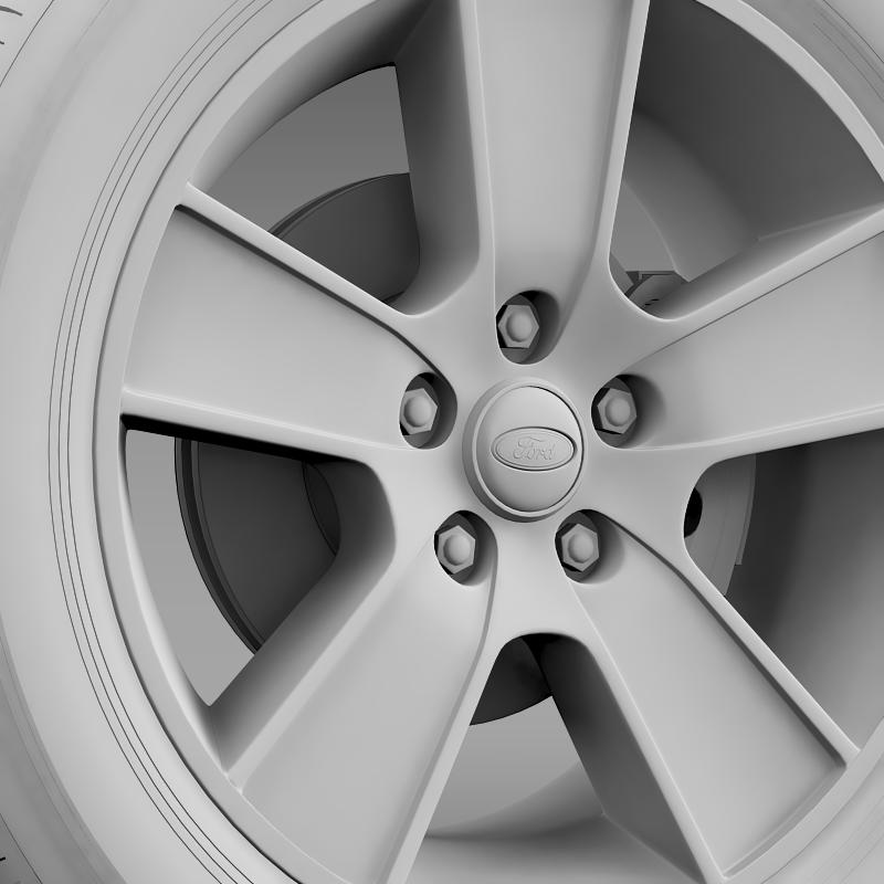ford mustang gt convertible 2005 wheel 3d model 3ds max fbx c4d lwo ma mb hrc xsi obj 139670