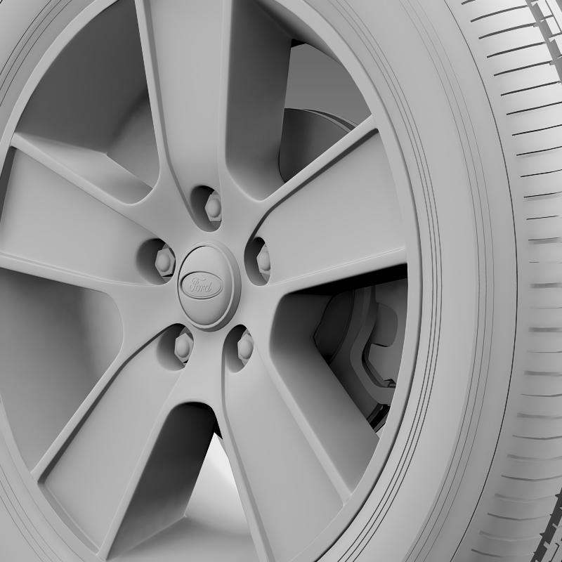 ford mustang gt convertible 2005 wheel 3d model 3ds max fbx c4d lwo ma mb hrc xsi obj 139671