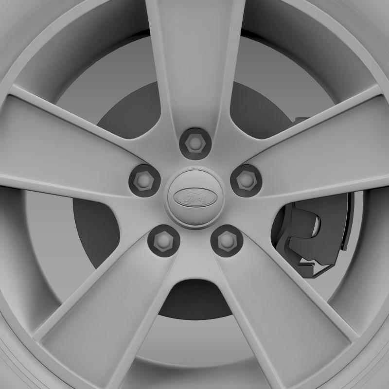 ford mustang gt convertible 2005 wheel 3d model 3ds max fbx c4d lwo ma mb hrc xsi obj 139672