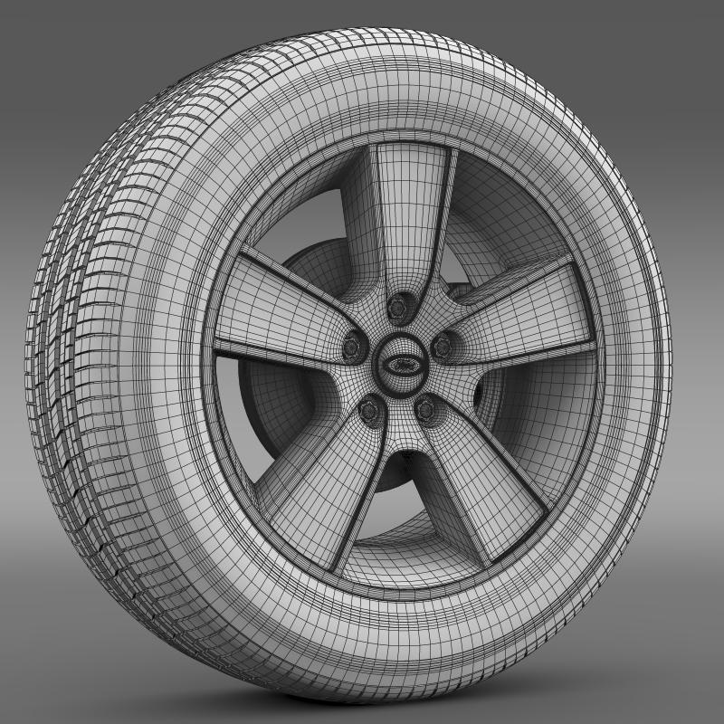 ford mustang gt convertible 2005 wheel 3d model 3ds max fbx c4d lwo ma mb hrc xsi obj 139673