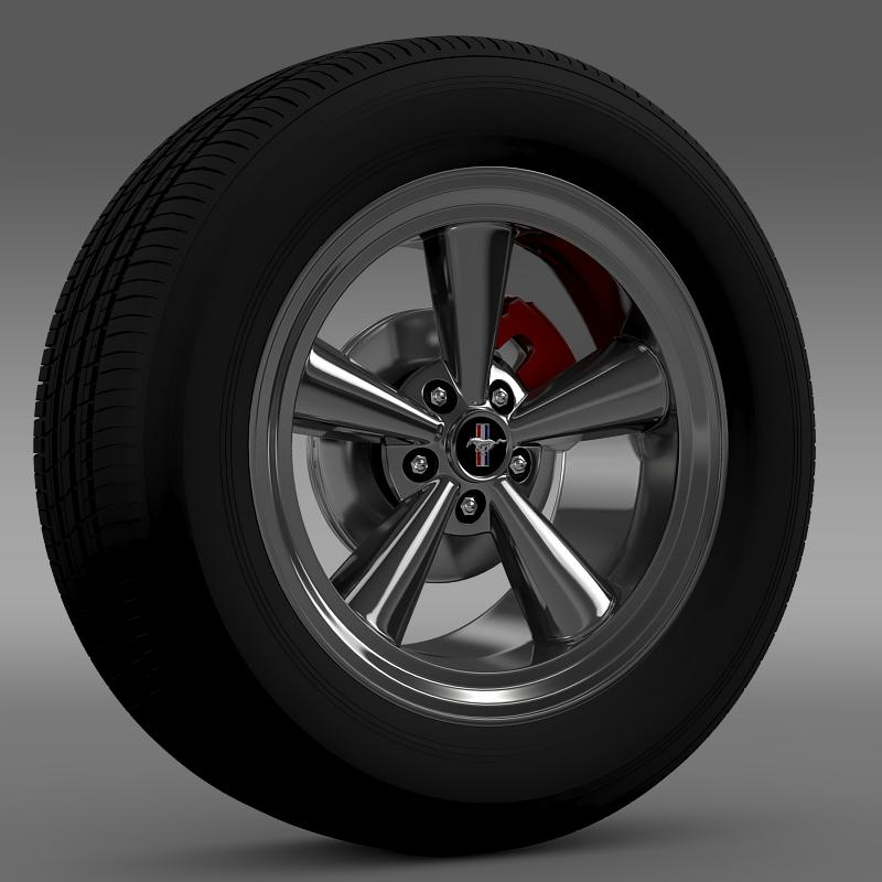 ford mustang gt cs 2007 wheel 3d model 3ds max fbx c4d lwo ma mb hrc xsi obj 139674