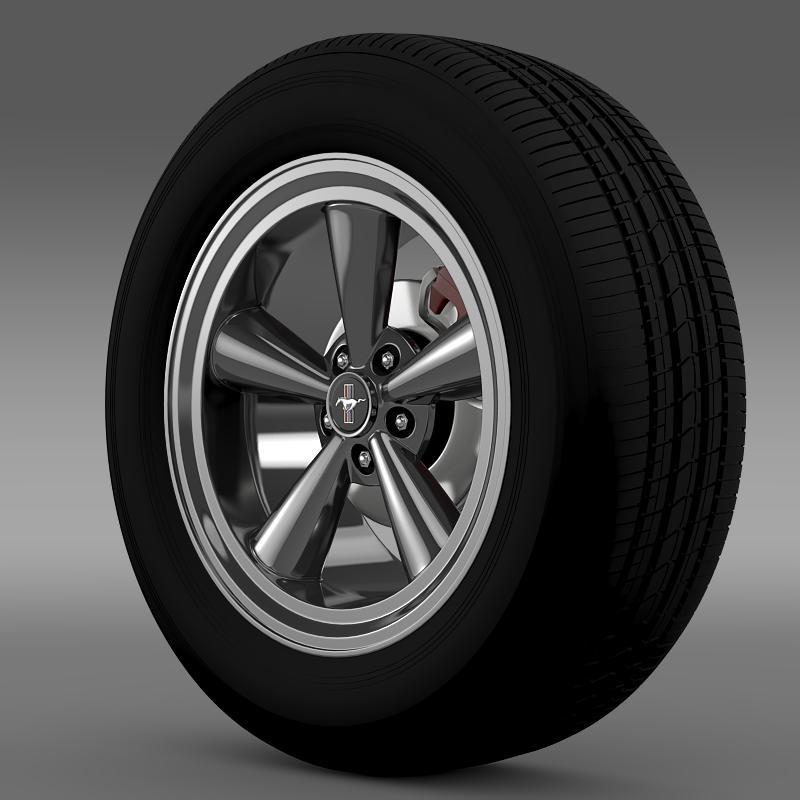 ford mustang gt cs 2007 wheel 3d model 3ds max fbx c4d lwo ma mb hrc xsi obj 139675