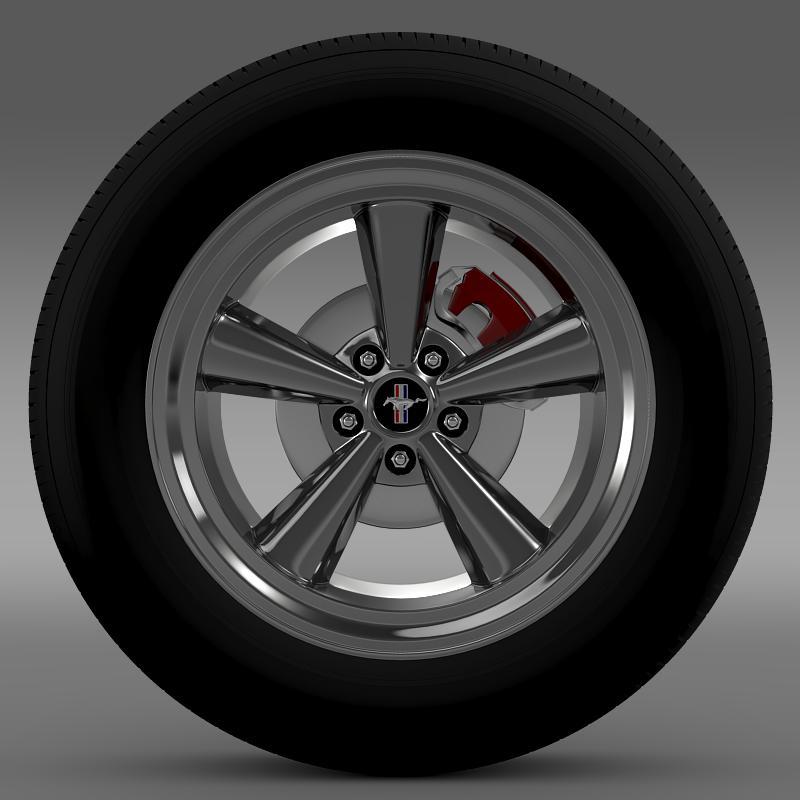 ford mustang gt cs 2007 wheel 3d model 3ds max fbx c4d lwo ma mb hrc xsi obj 139676