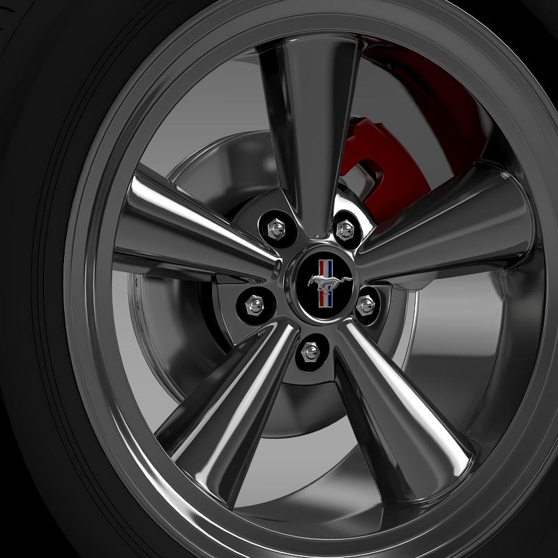 ford mustang gt cs 2007 wheel 3d model 3ds max fbx c4d lwo ma mb hrc xsi obj 139677