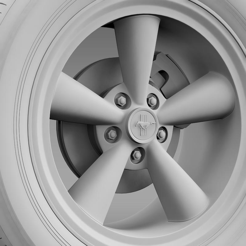 ford mustang gt cs 2007 wheel 3d model 3ds max fbx c4d lwo ma mb hrc xsi obj 139683