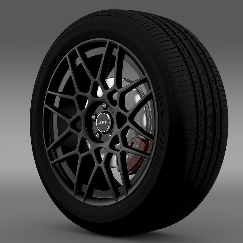 ford mustang shelby gt500 2013 wheel 3d model 3ds max fbx c4d lwo ma mb hrc xsi obj 139688