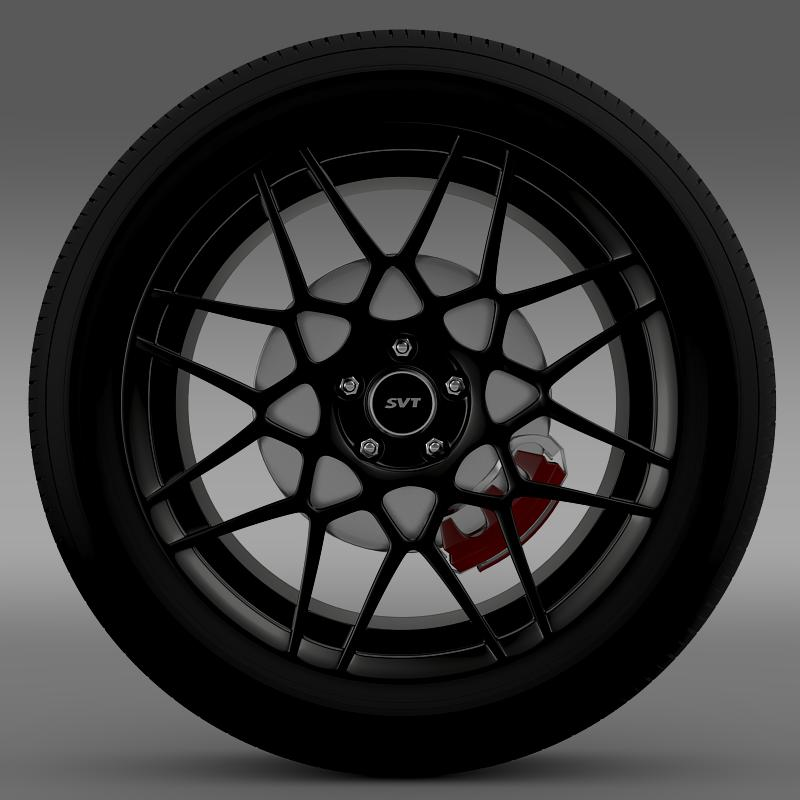 ford mustang shelby gt500 2013 wheel 3d model 3ds max fbx c4d lwo ma mb hrc xsi obj 139689