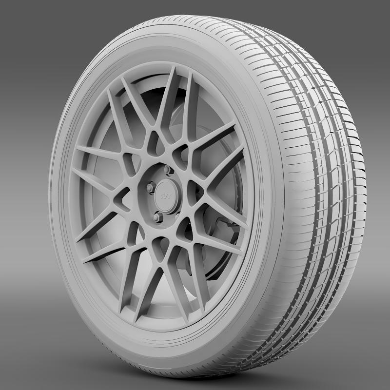 ford mustang shelby gt500 2013 wheel 3d model 3ds max fbx c4d lwo ma mb hrc xsi obj 139694