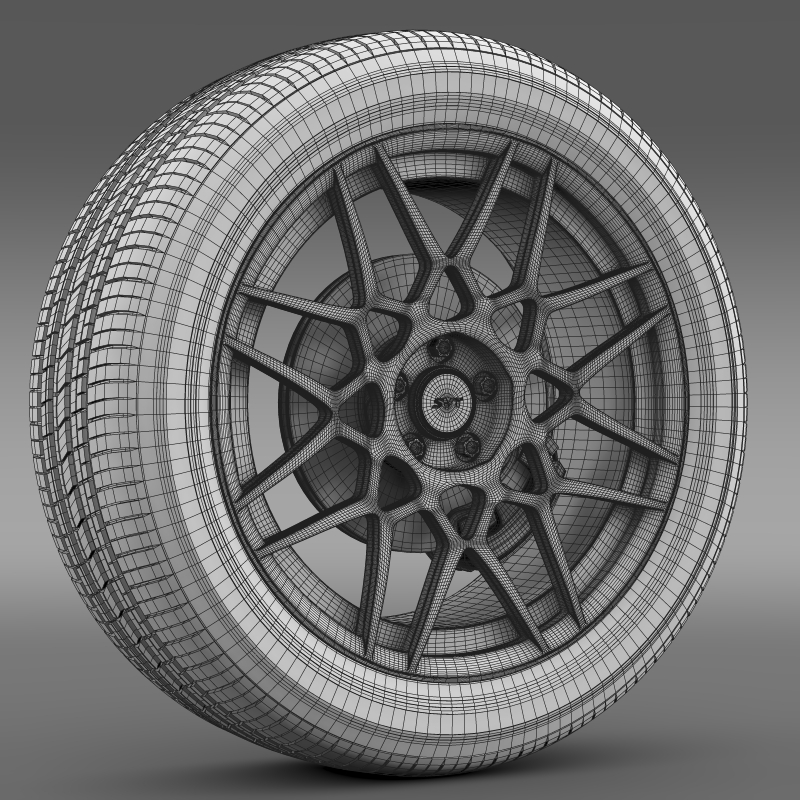 ford mustang shelby gt500 2013 wheel 3d model 3ds max fbx c4d lwo ma mb hrc xsi obj 139699