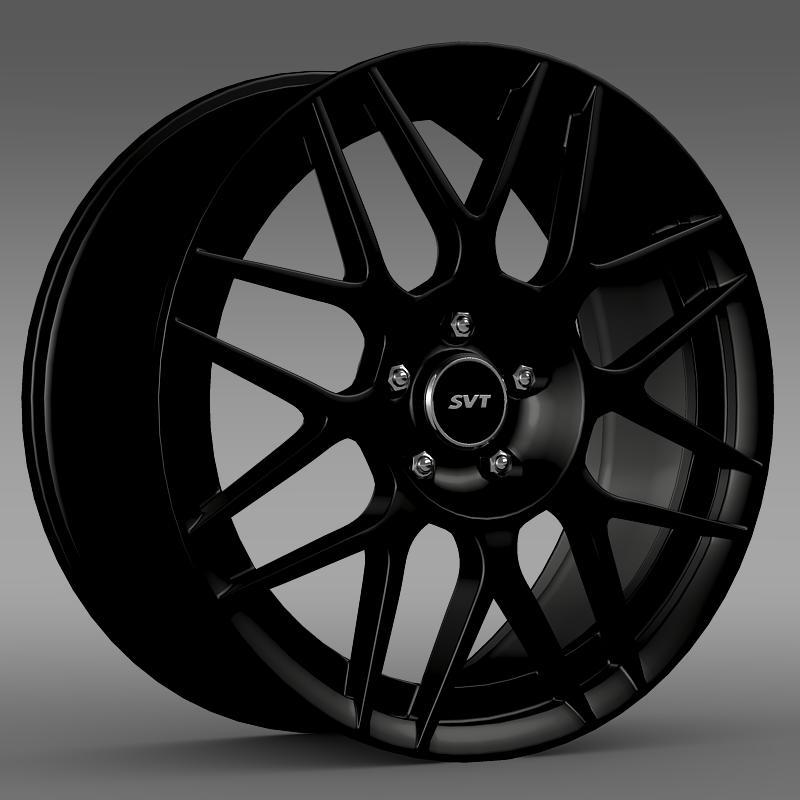 ford mustang shelby gt500 convertible 2011 rim 3d model 3ds max fbx c4d lwo ma mb hrc xsi obj 140148