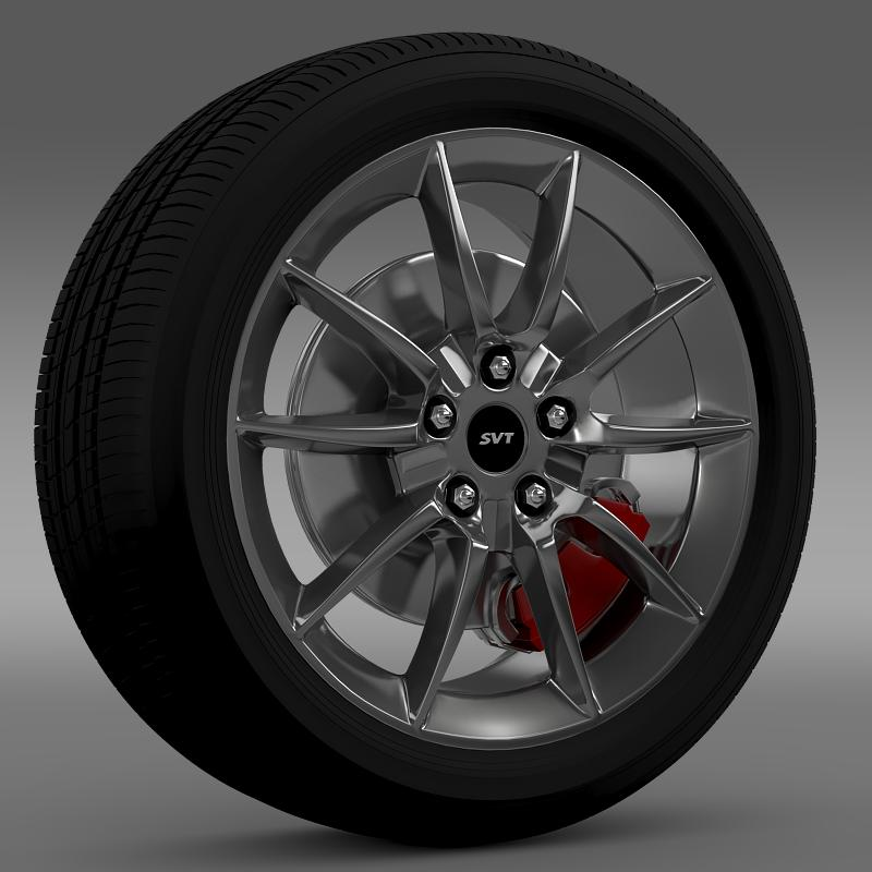 ford mustang shelby gt500kr 2008 wheel 3d model 3ds max fbx c4d lwo ma mb hrc xsi obj 139700