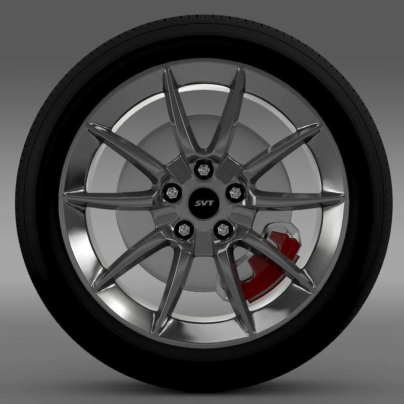 ford mustang shelby gt500kr 2008 wheel 3d model 3ds max fbx c4d lwo ma mb hrc xsi obj 139702