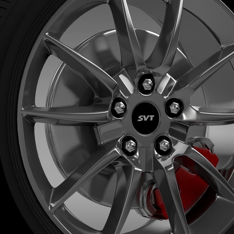 ford mustang shelby gt500kr 2008 wheel 3d model 3ds max fbx c4d lwo ma mb hrc xsi obj 139703