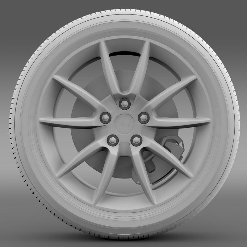 ford mustang shelby gt500kr 2008 wheel 3d model 3ds max fbx c4d lwo ma mb hrc xsi obj 139708