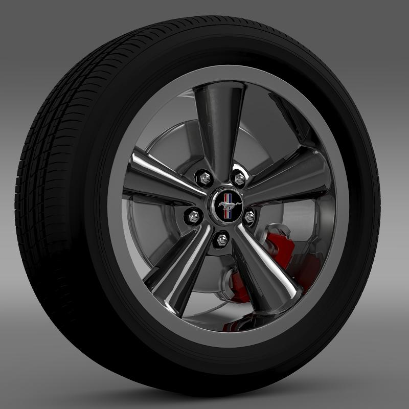 ford_mustang bullit 2008 wheel 3d model 3ds max fbx c4d lwo ma mb hrc xsi obj 139713