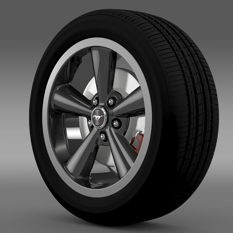ford_mustang bullit 2008 wheel 3d model 3ds max fbx c4d lwo ma mb hrc xsi obj 139714