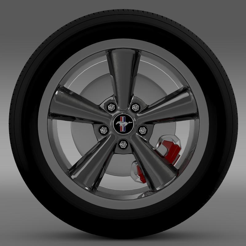 ford_mustang bullit 2008 wheel 3d model 3ds max fbx c4d lwo ma mb hrc xsi obj 139715