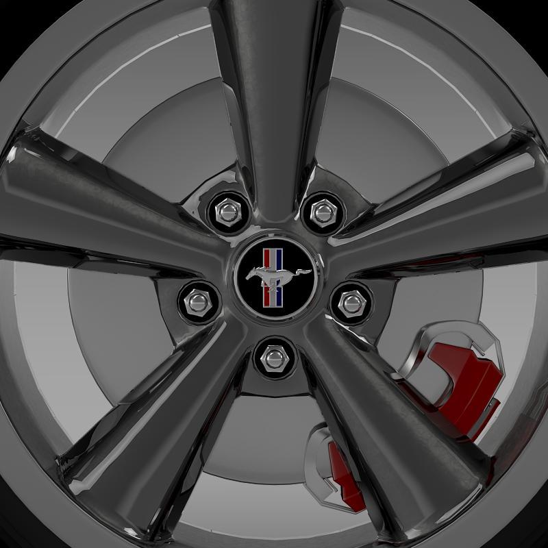 ford_mustang bullit 2008 wheel 3d model 3ds max fbx c4d lwo ma mb hrc xsi obj 139718