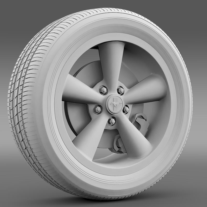 ford_mustang bullit 2008 wheel 3d model 3ds max fbx c4d lwo ma mb hrc xsi obj 139719
