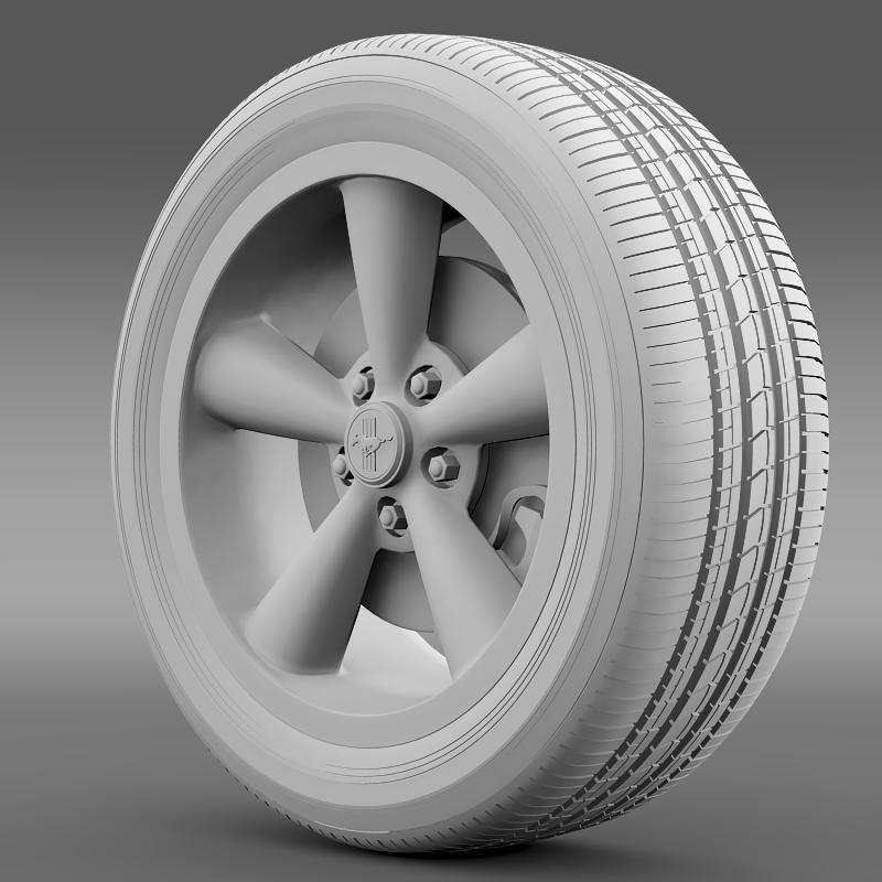 ford_mustang bullit 2008 wheel 3d model 3ds max fbx c4d lwo ma mb hrc xsi obj 139720