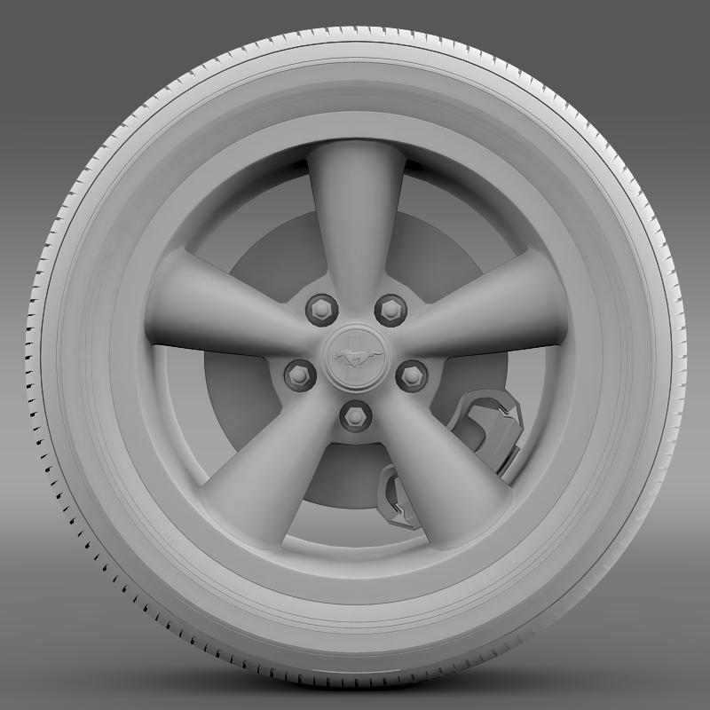 ford_mustang bullit 2008 wheel 3d model 3ds max fbx c4d lwo ma mb hrc xsi obj 139721
