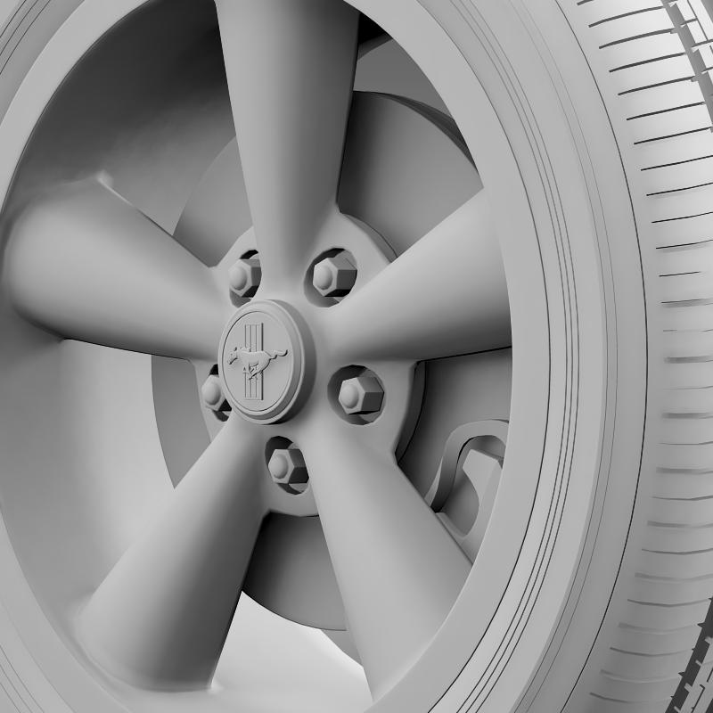 ford_mustang bullit 2008 wheel 3d model 3ds max fbx c4d lwo ma mb hrc xsi obj 139723