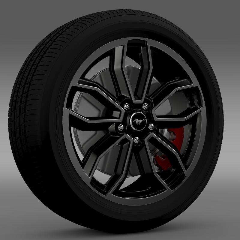 ford_mustang gt 2013 wheel 3d model 3ds max fbx c4d lwo ma mb hrc xsi obj 139845