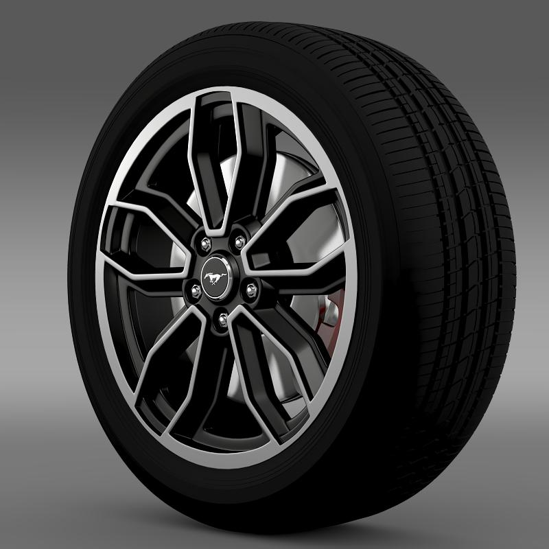 ford_mustang gt 2013 wheel 3d model 3ds max fbx c4d lwo ma mb hrc xsi obj 139846