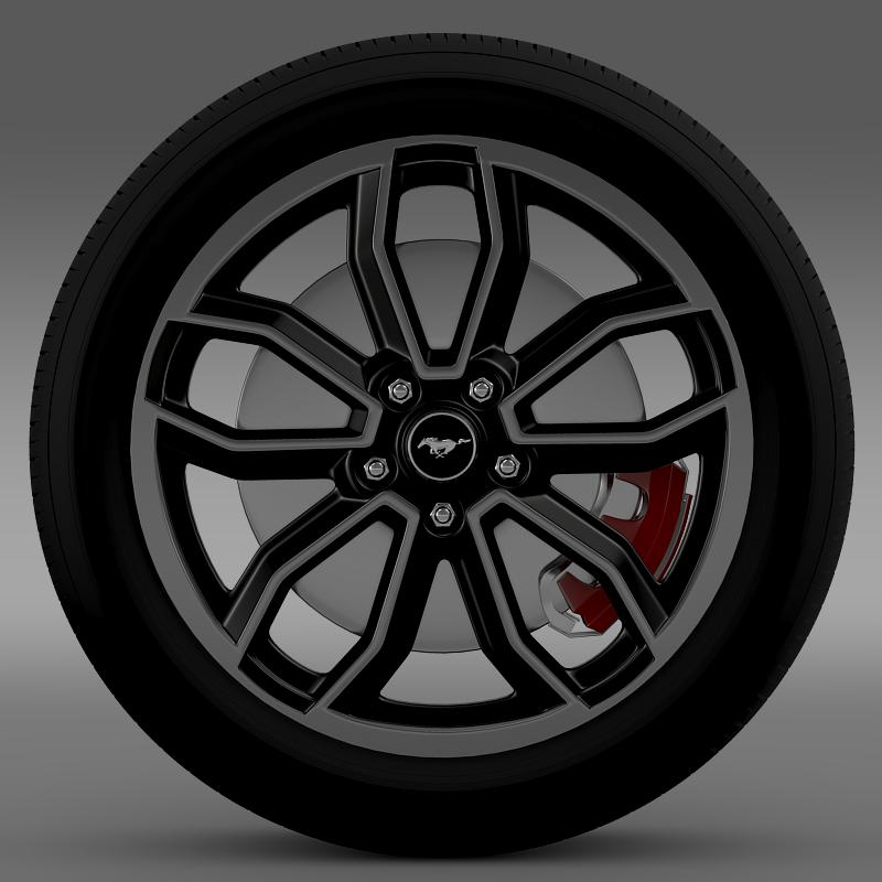 ford_mustang gt 2013 wheel 3d model 3ds max fbx c4d lwo ma mb hrc xsi obj 139847
