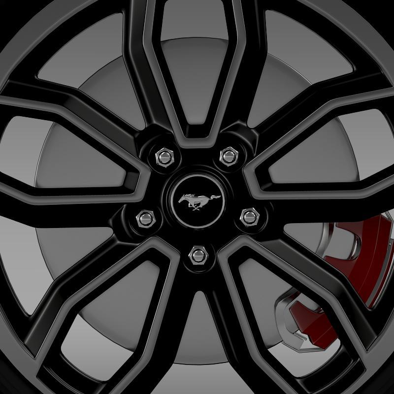 ford_mustang gt 2013 wheel 3d model 3ds max fbx c4d lwo ma mb hrc xsi obj 139850