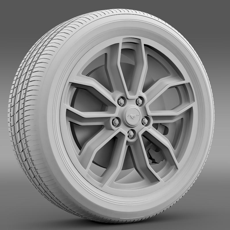 ford_mustang gt 2013 wheel 3d model 3ds max fbx c4d lwo ma mb hrc xsi obj 139851