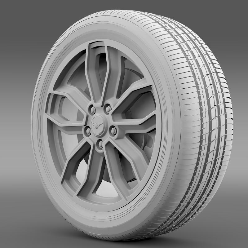 ford_mustang gt 2013 wheel 3d model 3ds max fbx c4d lwo ma mb hrc xsi obj 139852