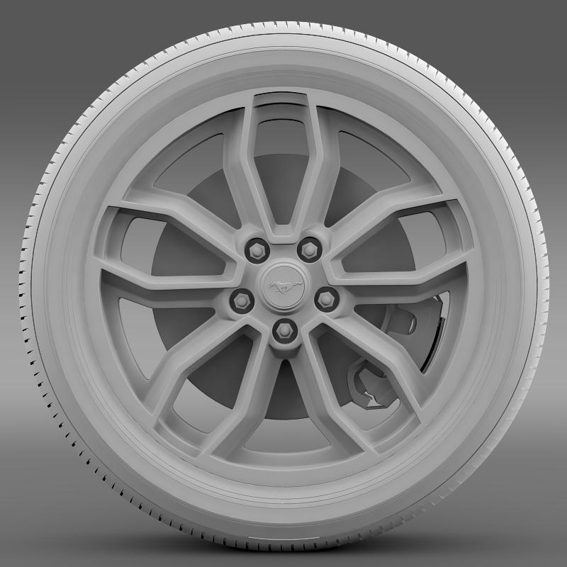 ford_mustang gt 2013 wheel 3d model 3ds max fbx c4d lwo ma mb hrc xsi obj 139853