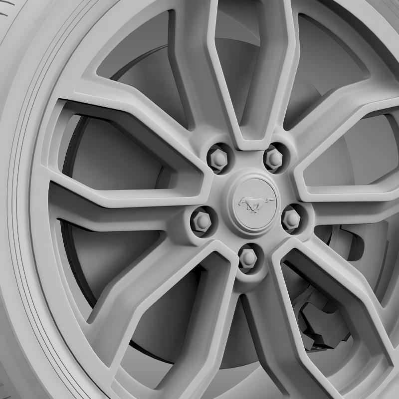 ford_mustang gt 2013 wheel 3d model 3ds max fbx c4d lwo ma mb hrc xsi obj 139854