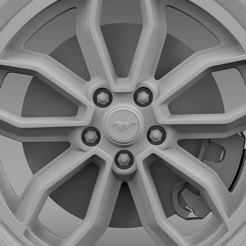 ford_mustang gt 2013 wheel 3d model 3ds max fbx c4d lwo ma mb hrc xsi obj 139856
