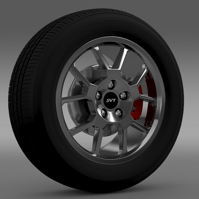 ford_mustang gt500 shelby 2007 wheel 3d model 3ds max fbx c4d lwo ma mb hrc xsi obj 139819