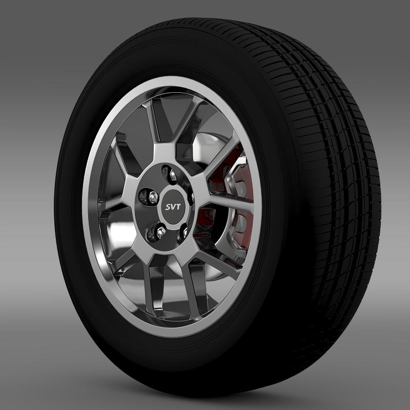 ford_mustang gt500 shelby 2007 wheel 3d model 3ds max fbx c4d lwo ma mb hrc xsi obj 139820