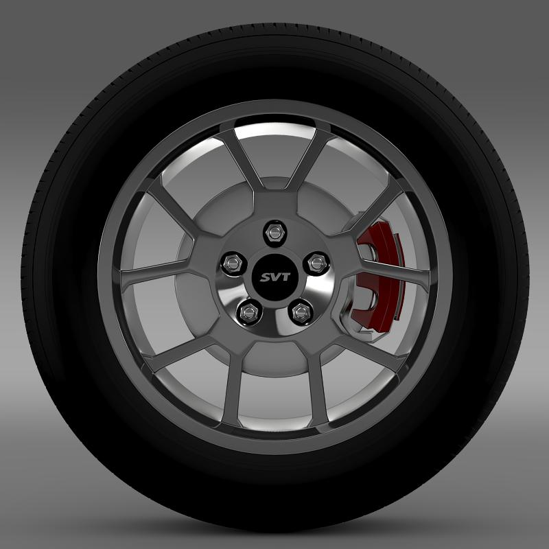 ford_mustang gt500 shelby 2007 wheel 3d model 3ds max fbx c4d lwo ma mb hrc xsi obj 139821