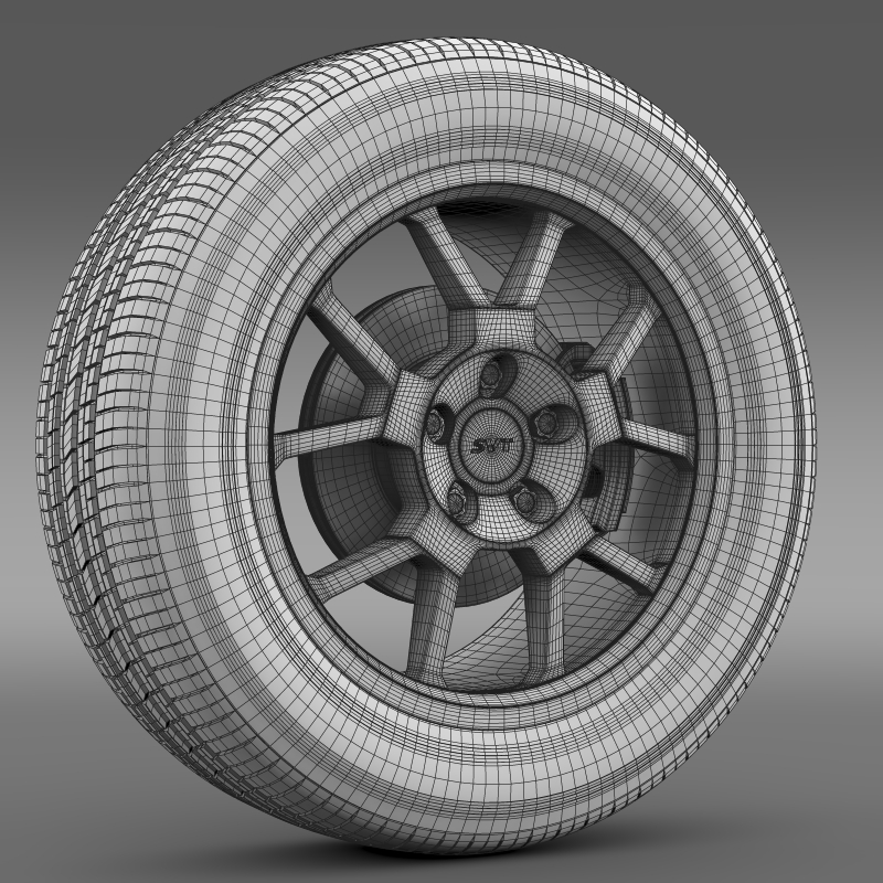 ford_mustang gt500 shelby 2007 wheel 3d model 3ds max fbx c4d lwo ma mb hrc xsi obj 139831
