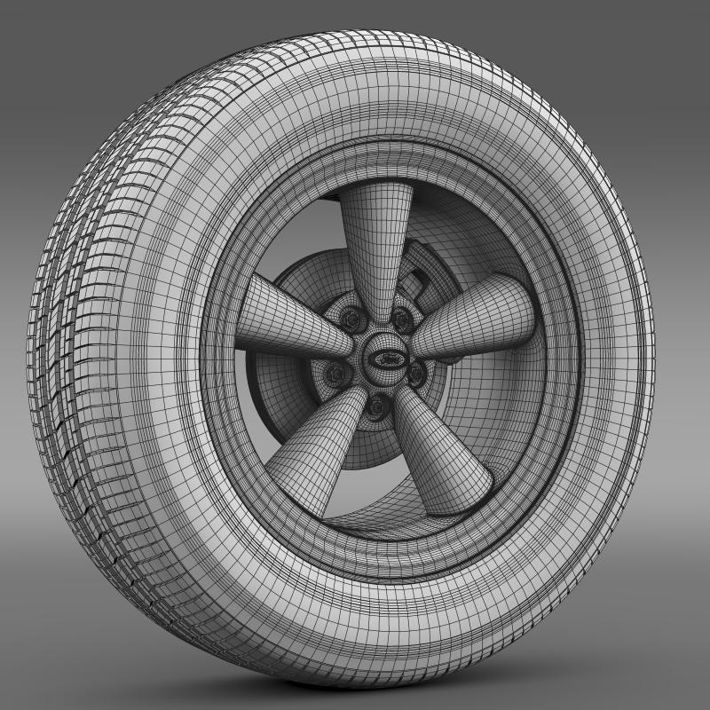 ford_mustang gth 2006 wheel 3d model 3ds max fbx c4d lwo ma mb hrc xsi obj 139870