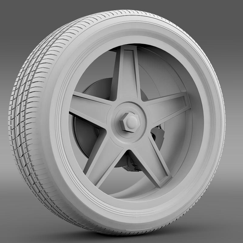 ford_mustang gtr 2005 wheel 3d model 3ds max fbx c4d lwo ma mb hrc xsi obj 139877